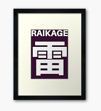 Raikage Kumo Symbols Framed Print