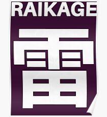 Raikage Kumo Symbols Poster