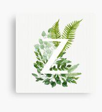 Floral letter Z Canvas Print
