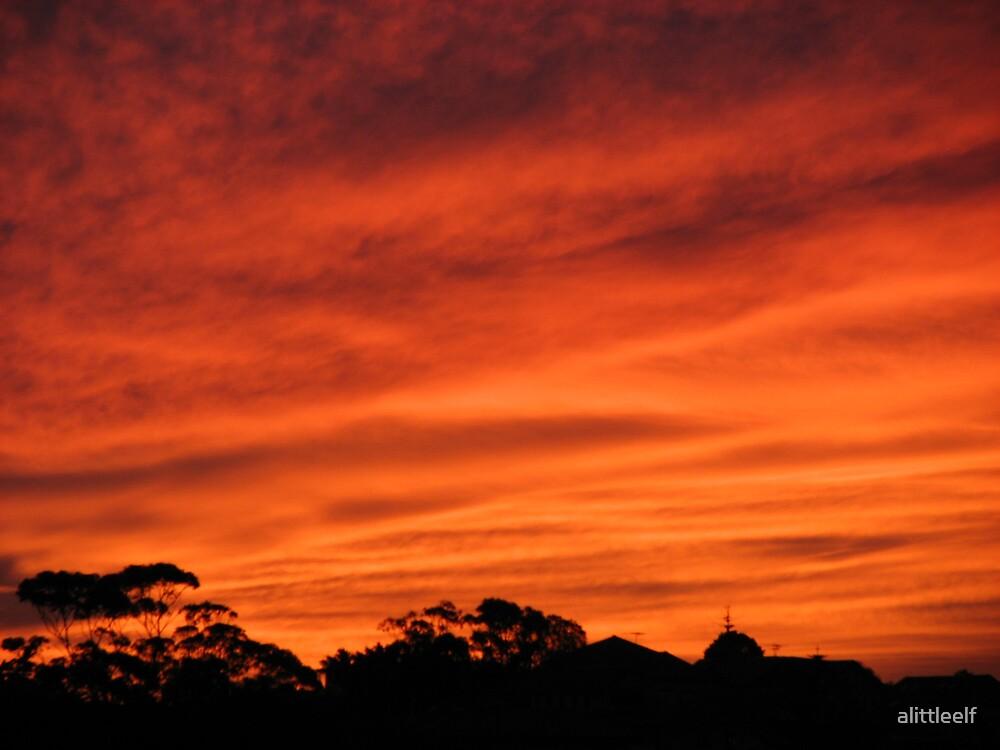Sunset by alittleelf