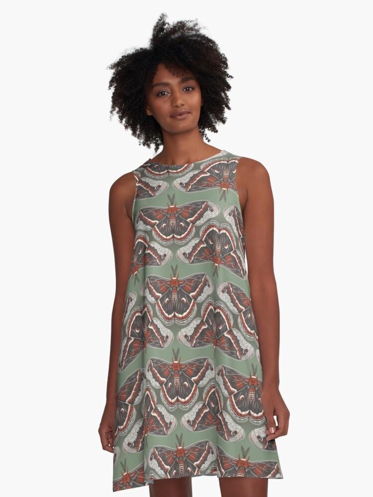 Cecropia Moth A-Line Dress Front