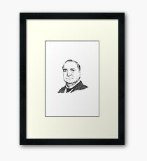 Charles Carson Downton Abbey Framed Print