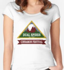 Dual Spires - Psych Women's Fitted Scoop T-Shirt