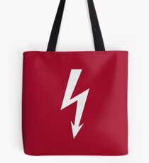 Flash / Blitz / Éclair / Rayo / Fulmine (White) Tote Bag