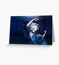 Woman under water 2 Greeting Card