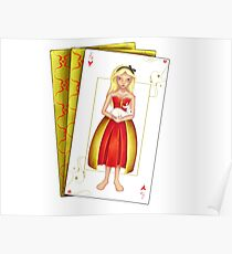 Alice Queen of Hearts in Wonderland Poster