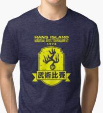 Bruce Lee - Hans Martial Arts Tournament  Tri-blend T-Shirt