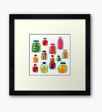 pickled vegetables  Framed Print