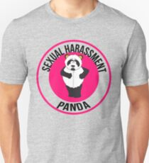 Sexuelle Belästigung Panda Slim Fit T-Shirt