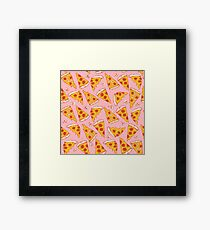 Pizza Night - Pink Framed Print