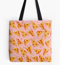 Pizza Night - Pink Tote Bag