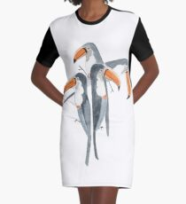 Toucans Graphic T-Shirt Dress