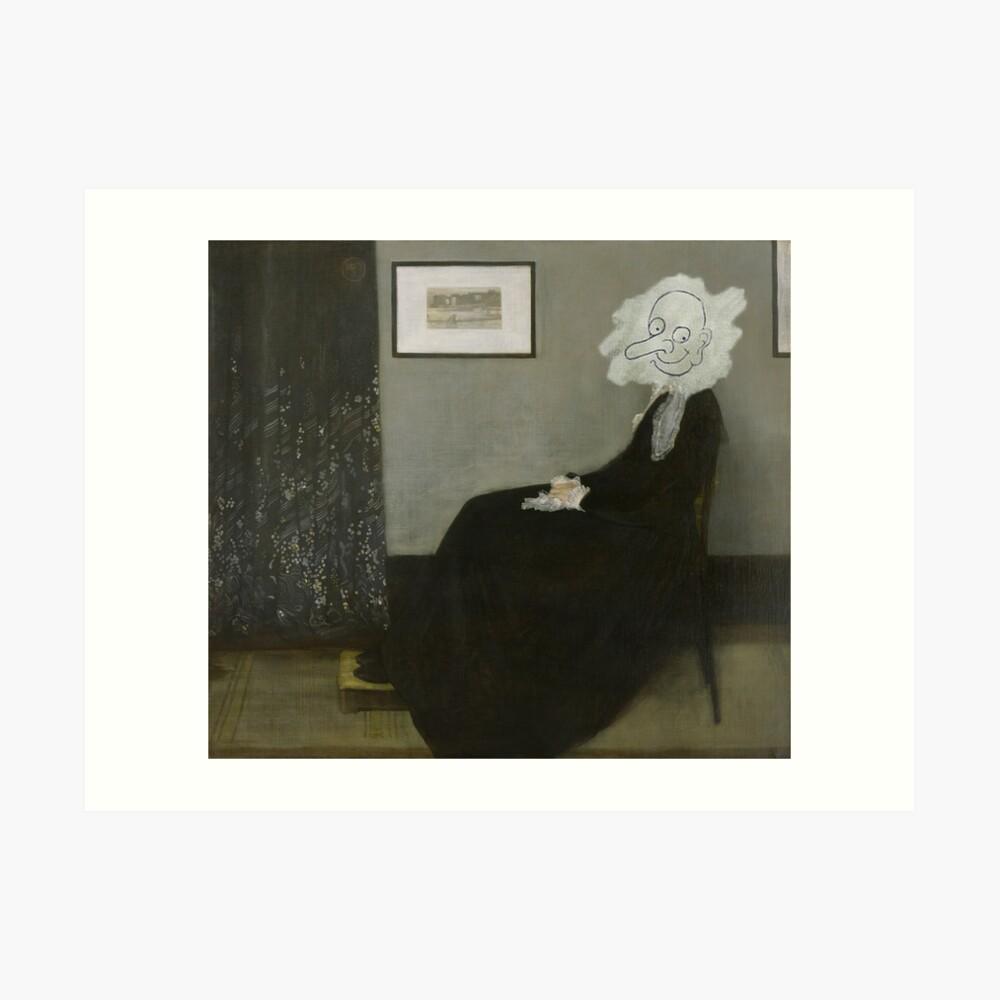 Whistler's Mother - Mr. Bean Art Print