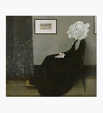 Whistler's Mother - Mr. Bean Photographic Print