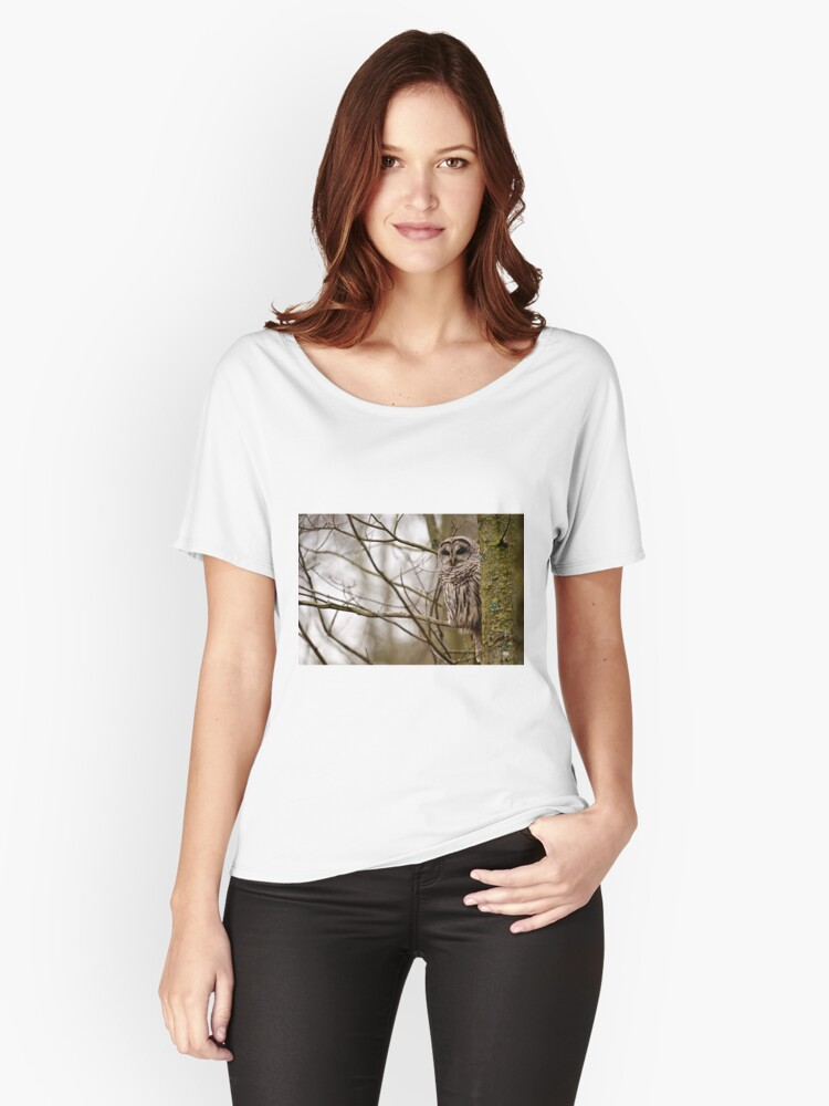 Barred Owl - Presqu'ile Park Women's Relaxed Fit T-Shirt Front