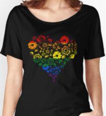 Flower pride heart Women's Relaxed Fit T-Shirt