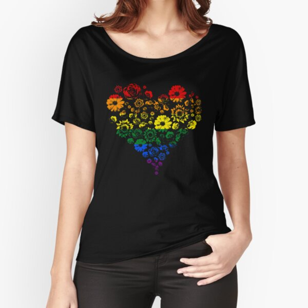 Flower pride heart Relaxed Fit T-Shirt