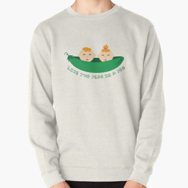 Peas in a Pod (boy/girl twins) Pullover Sweatshirt