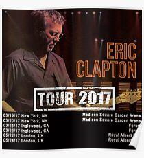 Eric Clapton Tour 2017 Poster