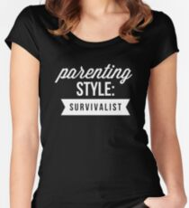 Parenting style: survivalist Women's Fitted Scoop T-Shirt