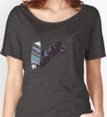 Kite And Surfboard Freestyle Silhouette Vector Women's Relaxed Fit T-Shirt