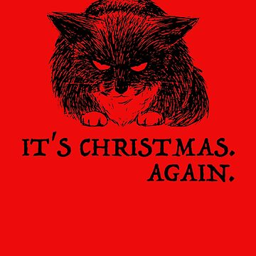 bad cat christmas by bumblethebee