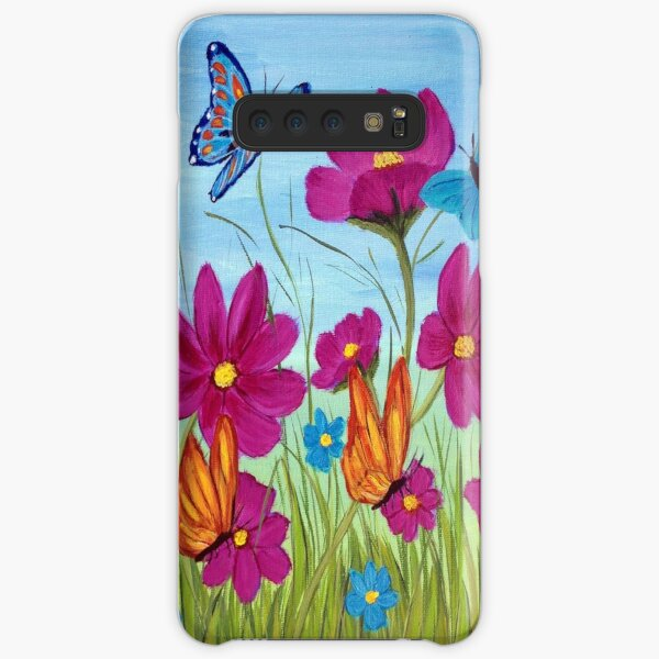 Butterflies and flowers  Samsung Galaxy Snap Case