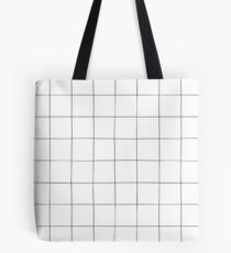 Black and white check, square, plaid pattern Tote Bag