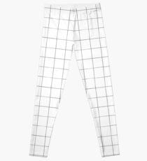 Black and white check, square, plaid pattern Leggings