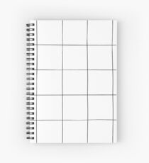 Black and white check, square, plaid pattern Spiral Notebook
