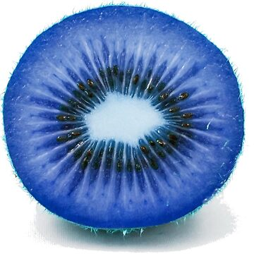 blue kiwi fruit by Maitochter