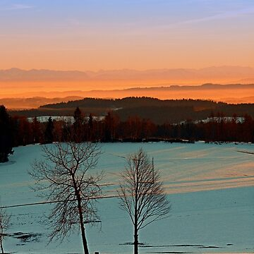 Colorful winter wonderland sundown VI | landscape photography by patrickjobst