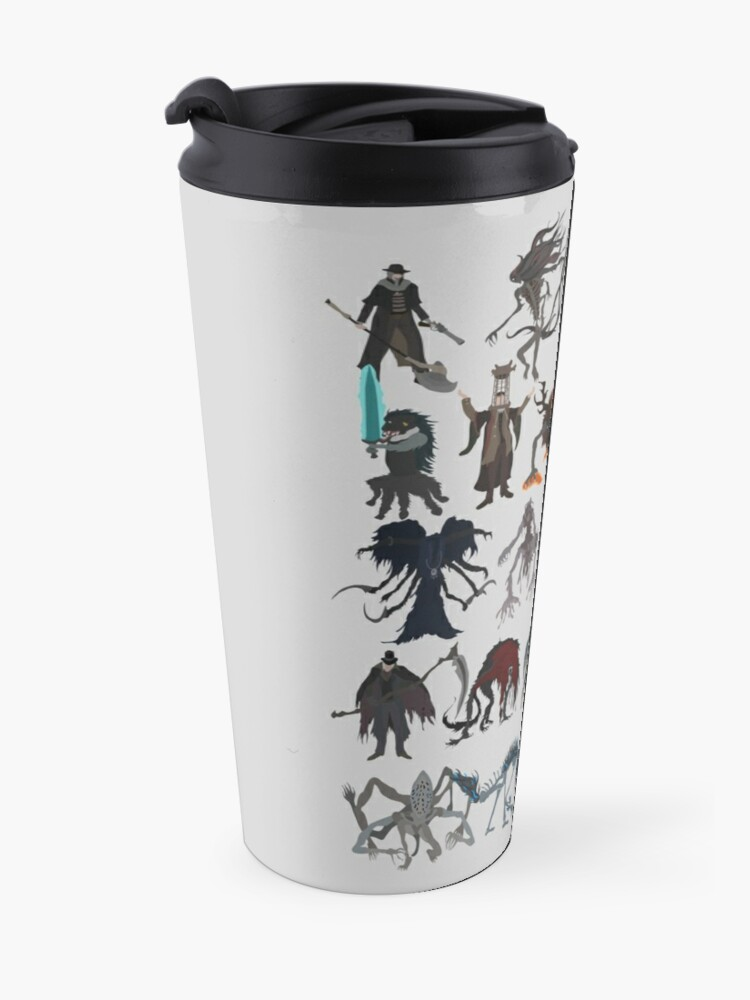 Alternate view of Bloodborne bosses Travel Mug