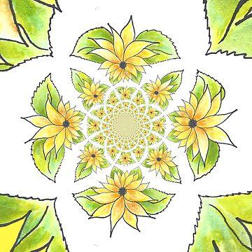 Sunflowers in a Kaleidoscope by CarolineLembke