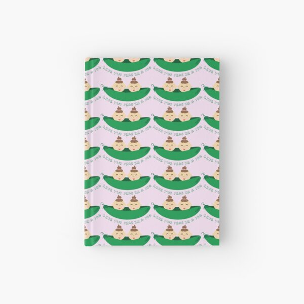 Peas in a Pod (girl/girl twins) Hardcover Journal