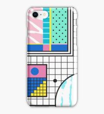 Retro Memphis Colourful Collage  iPhone Case/Skin