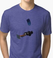 Lets Go Fly A Kite Vector Tri-blend T-Shirt