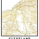 CLEVELAND OHIO CITY STREET MAP ART by deificusArt