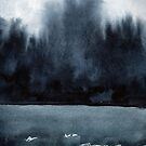 Watercolor landscape sky clouds by OlgaBerlet