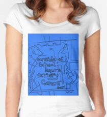 Outside of school hours activity garment  - Blue Women's Fitted Scoop T-Shirt