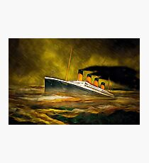 RMS Titanic in Heavy Rain Photographic Print