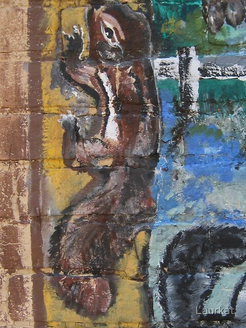 mural chipmunk in Ellijay by Laurkat