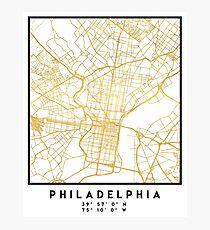 PHILADELPHIA PENNSYLVANIA CITY STREET MAP ART Fotodruck