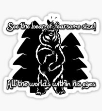 Bear Beam Rhyme - Shardik Sticker