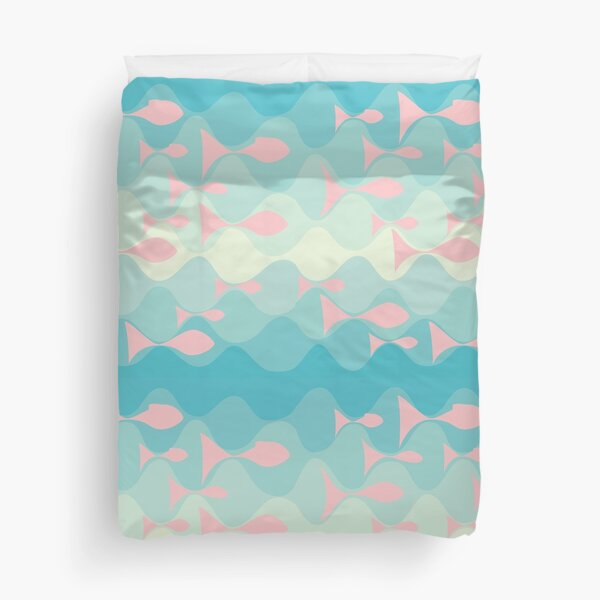 on the wave Duvet Cover
