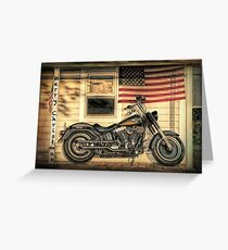 Harley Davidson Fat Boy Greeting Card