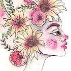Blumen in deinen Haaren von Aurora Gritti