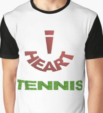 I Heart Tennis Graphic T-Shirt