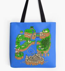 Super Mario World Map Tote Bag