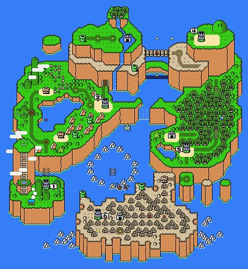 Super Mario World Map Super Mario World Map